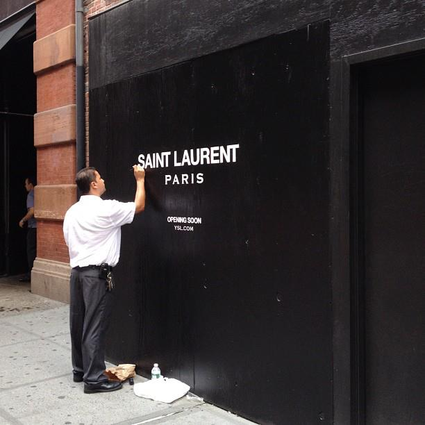 Yves Saint Laurent big change by Hedi Slimane