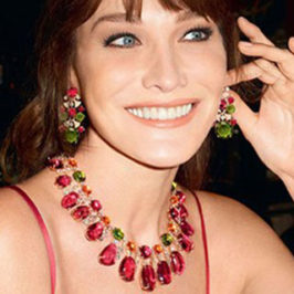 Gorgeous Carla Bruni for Bulgari Diva Collection – photo by Terry Richardson
