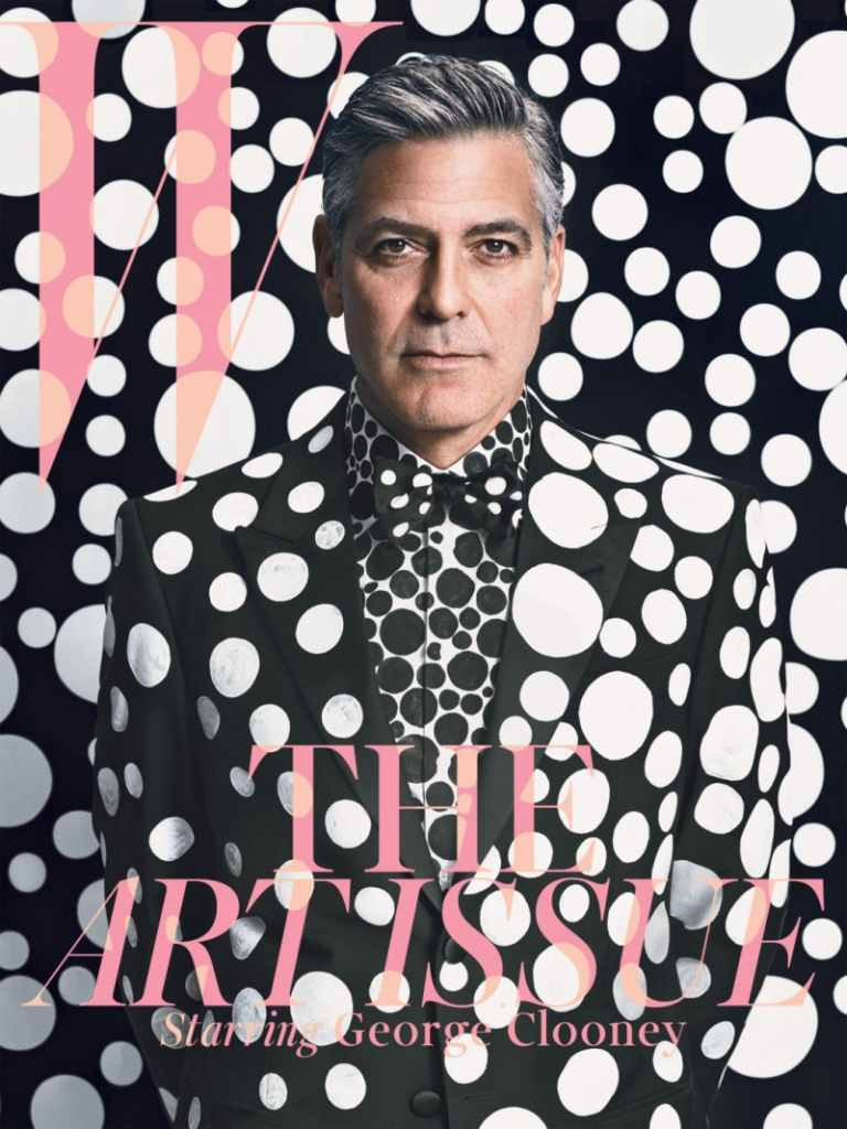 0c475442c88a This month W Magazine cover belongs to George Clooney. In great editorial  created by Emma Summerton