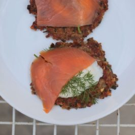 buckwheat blini with salmon