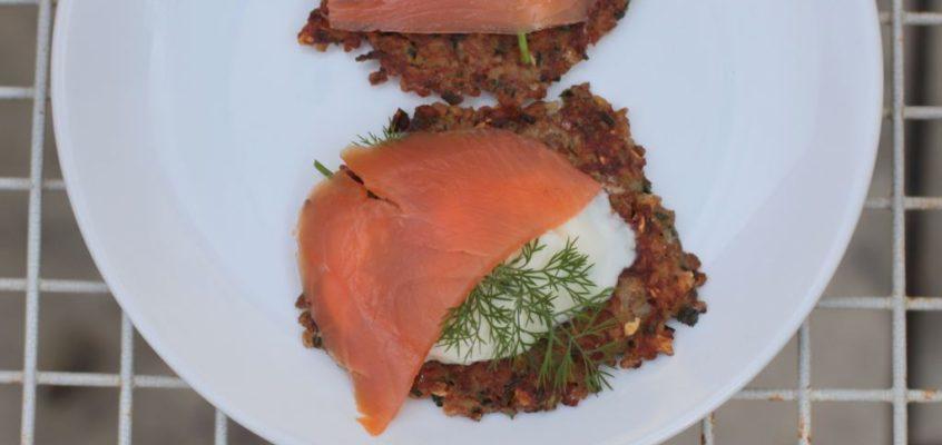 buckwheat blini with salmon