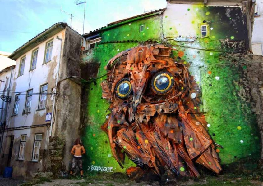 recycled art by Bordalo II