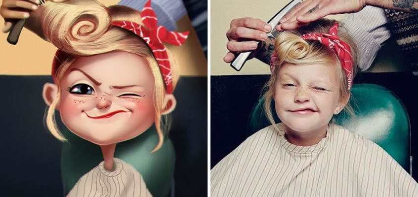 Julio Cesar Turned Photos of Random People In To a Funny Illustration