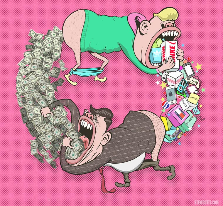 Steve Cutts Satirical Illustrations 04