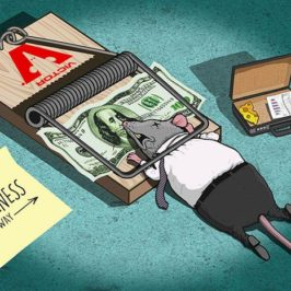 Satirical illustrations by Steve Cutts