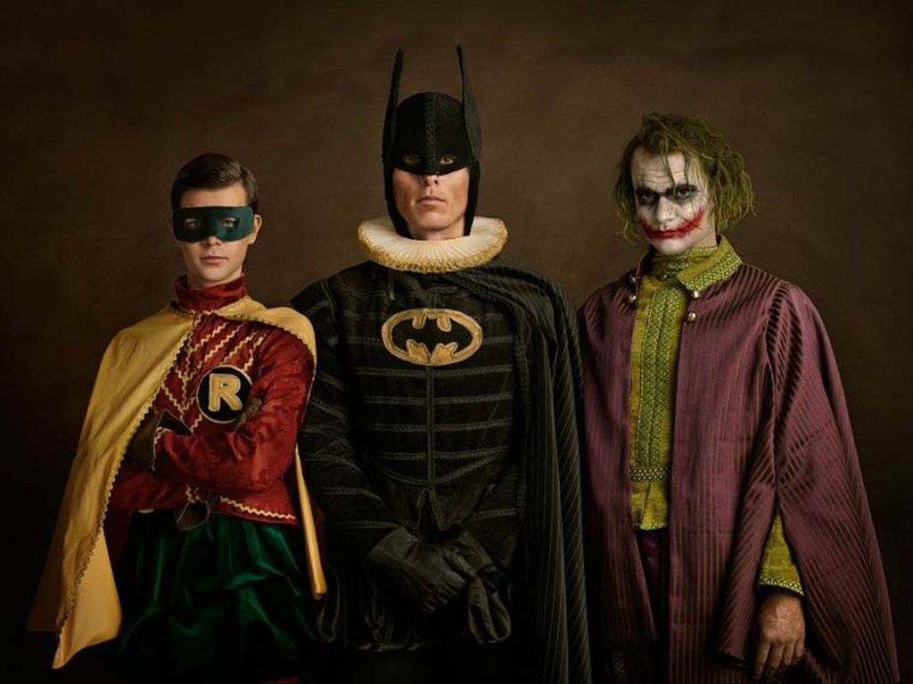 Superheroes on the Family Portraits 05