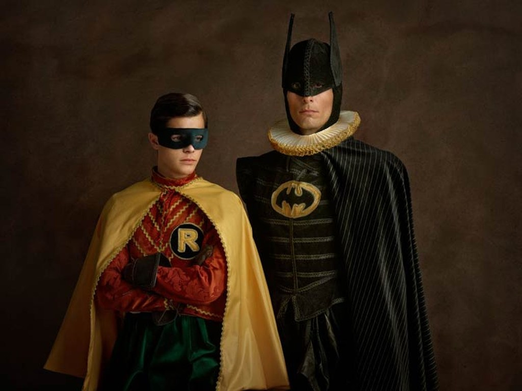 Superheroes on the Family Portraits 06
