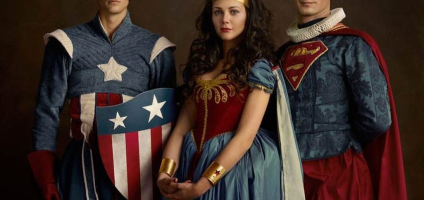 Classical Paintings and Superheroes on the Family Portraits