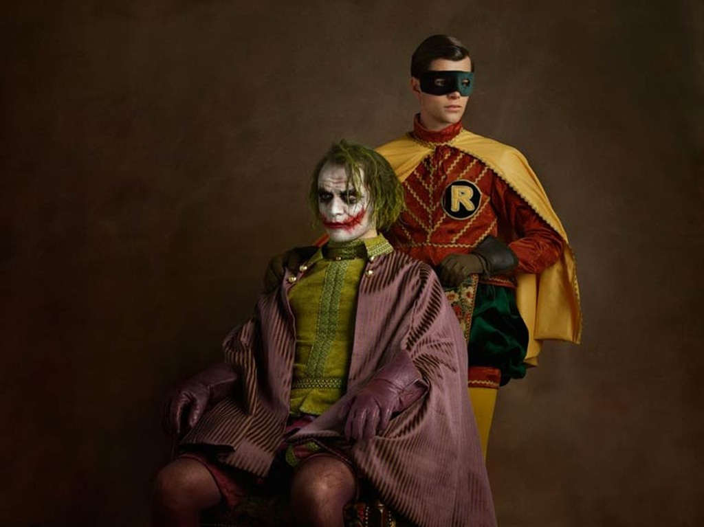 Superheroes on the Family Portraits 11