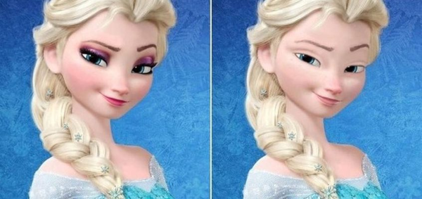 The Disney Princesses without makeup by Loryn Brantz