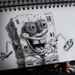PEZ and his dark and twisted drawings