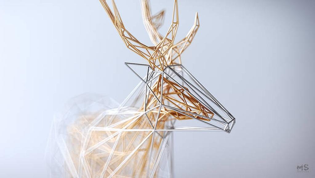 The Wires – geometric animals by Mat Szulik