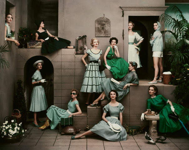 Fashions in Tones of Green