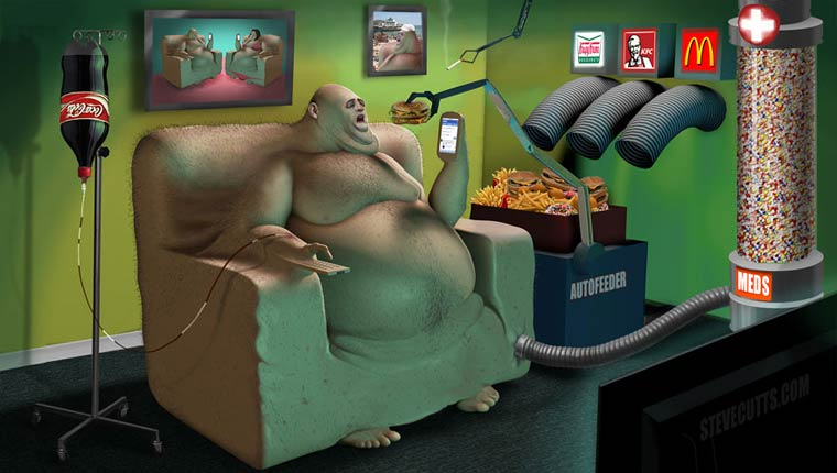Steve Cutts Satirical Illustrations 10