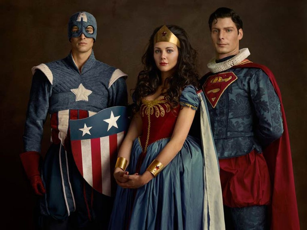 Superheroes on the Family Portraits 10